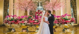 Os noivos Beatrice e Luiz Augusto tiveram seu...