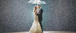 Você escolheu casar em um mês que chove mais...