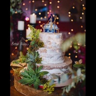 Semi Naked cake - Suculentas e tango