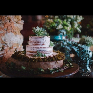 Semi Naked cake - Green