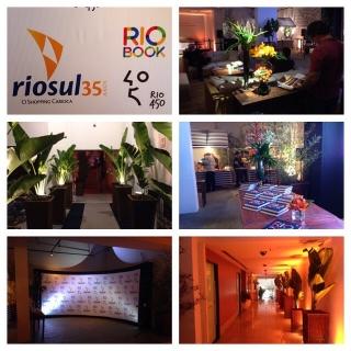 35 anos de Shopping Rio Sul. Iluminação decorativa e sonorização.