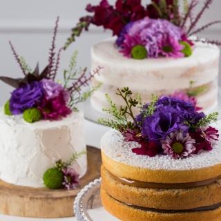 Trio vintage cake, semi naked e naked cake