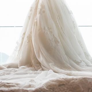 Rendo-me à renda - vestido de noiva