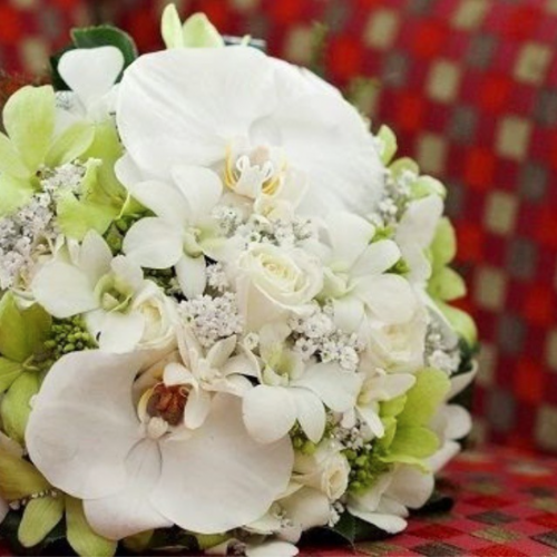 Buquê de Orquídeas Brancas