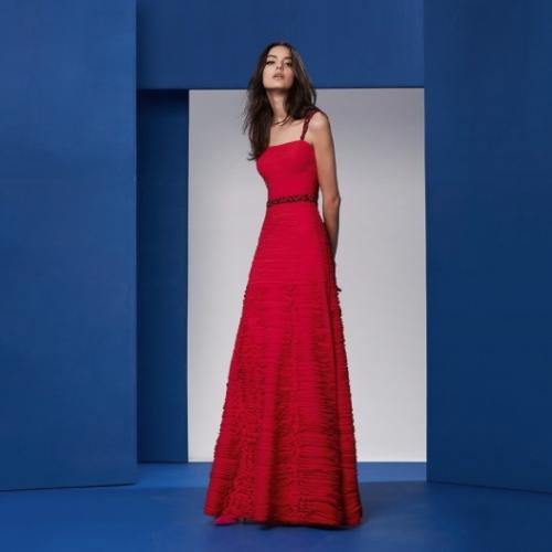 Vestido Vermelho Printing