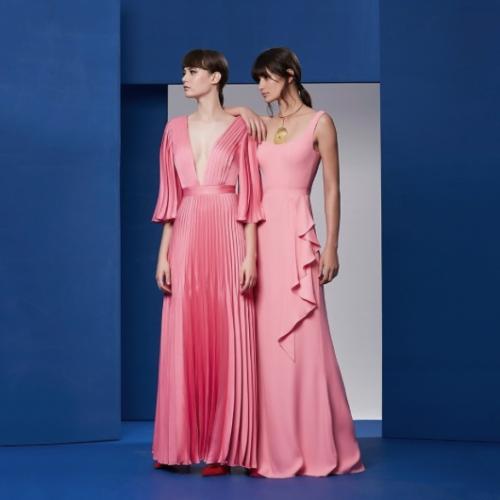 Vestidos Rosa Printing