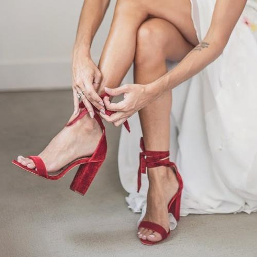 Sapatos vermelhos Schultz