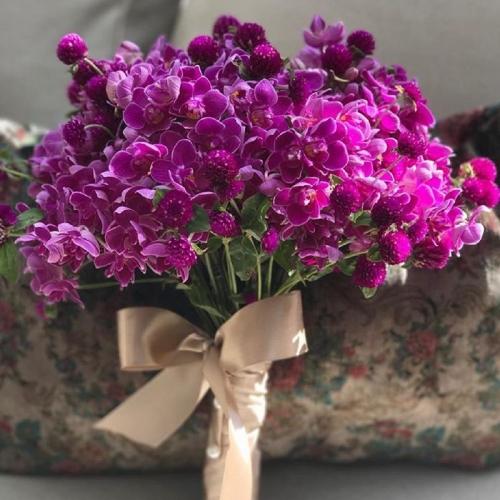 Buquê de mini-orquídeas