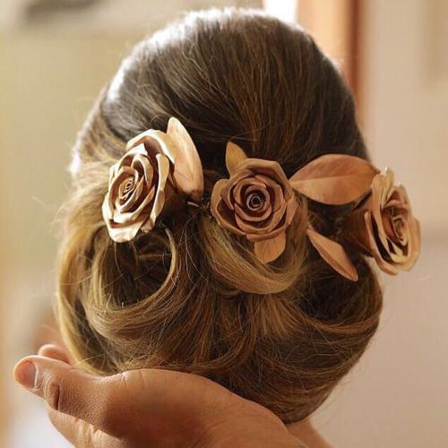 Coque com Flores Ouro Rosé