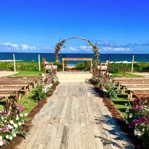 Decor cerimônia na praia