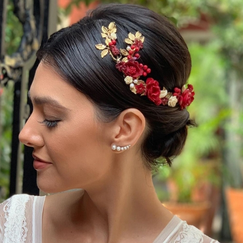Grinalda com Flores