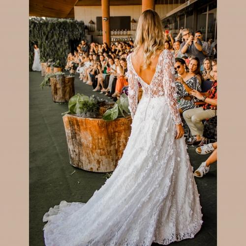 Vestido de noiva Aplicação 3D