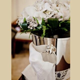 Buquê orquídeas brancas