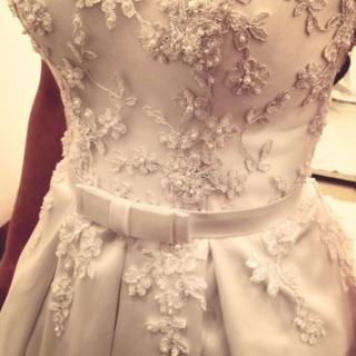 Detalhes vestido de noiva