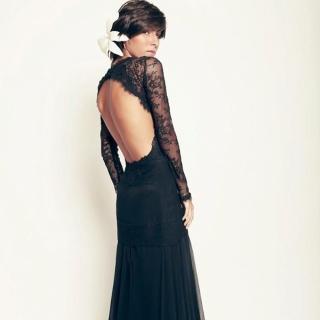 Vestido de Seda Preto