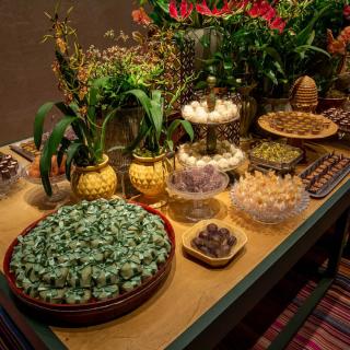 Mesa de doces Vera Mendes Joias de Açúcar