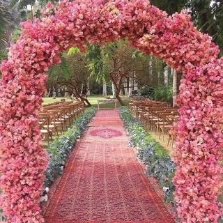 Arco de flores all pink