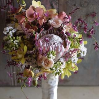 Buquê com mix de flores