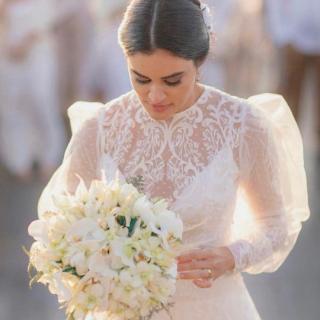 Buquê de flores brancas por Angela Silveira