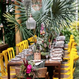 Decoração mesa de convidados