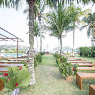 Decoração Cerimonia ao ar livre Clara Nobrega