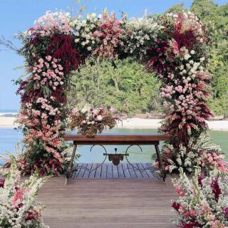 Decoração cerimônia ao ar livre