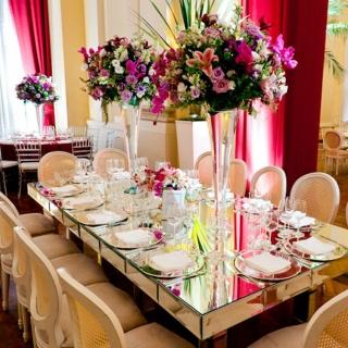 decoração mesa grande