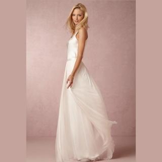 Vestido de noiva em seda e tule