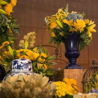 Decoração Azul e amarela Karina Saab