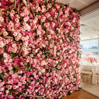 Backdrop floral all pink