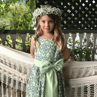 Vestido de Dama estampado de Verde
