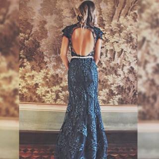 Vestido Longo Decote nas costas