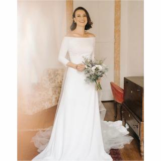 vestido de noiva liso Rosa Clara Bridal