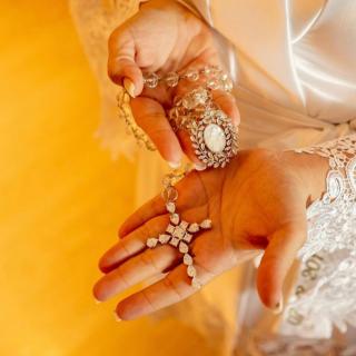 Terço para noiva por Mayra Gaibar